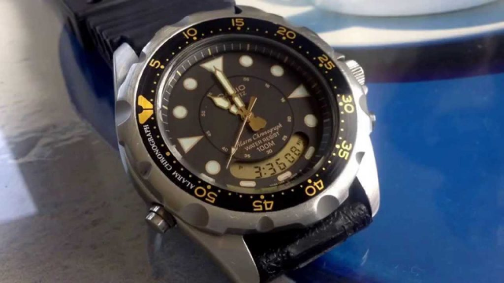 Analog Digital Chronograph Divers Watch